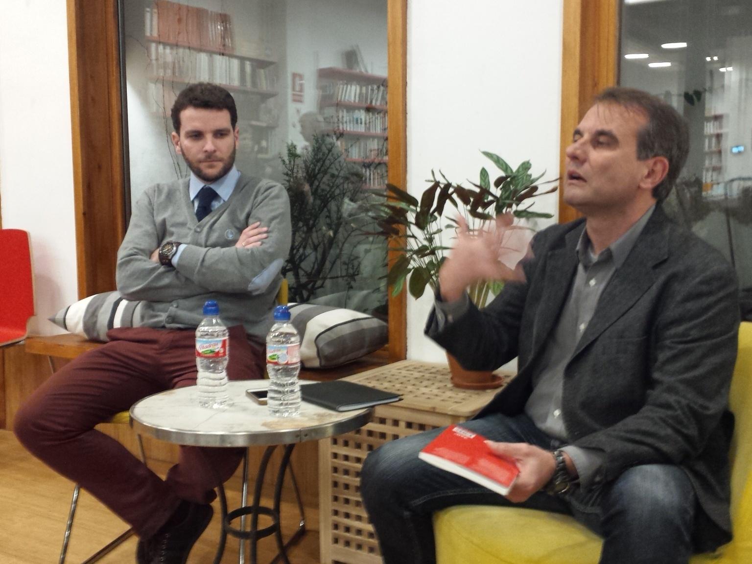 Jordi Juste (d) y Andrés Ortiz Moyano (i)