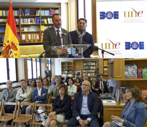 Inauguración espacio UNE en la Librería del BOE / Rosa de Bustos