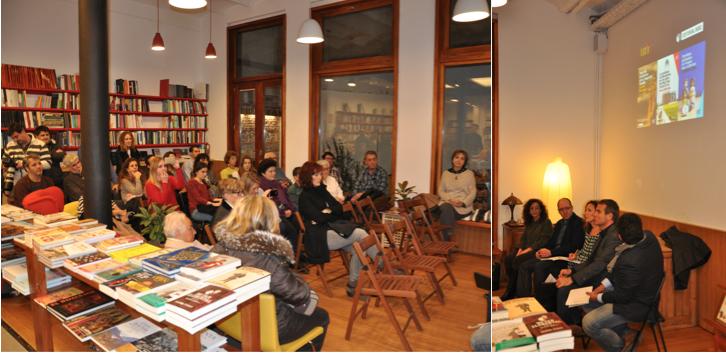 Presentación Reportajes 360º en el espacio UNE de la Librería Documenta de Barcelona