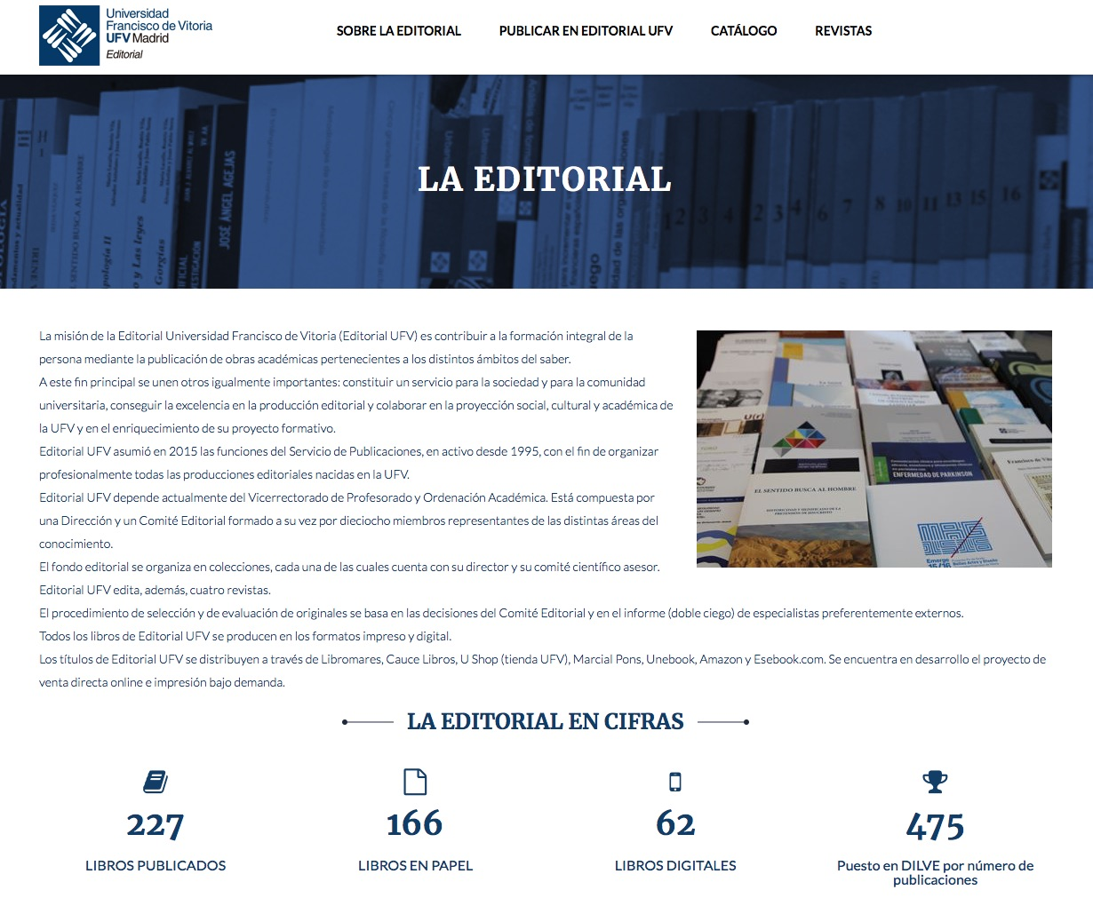 Editorial Universidad Francisco de Vitoria estrena su nueva web