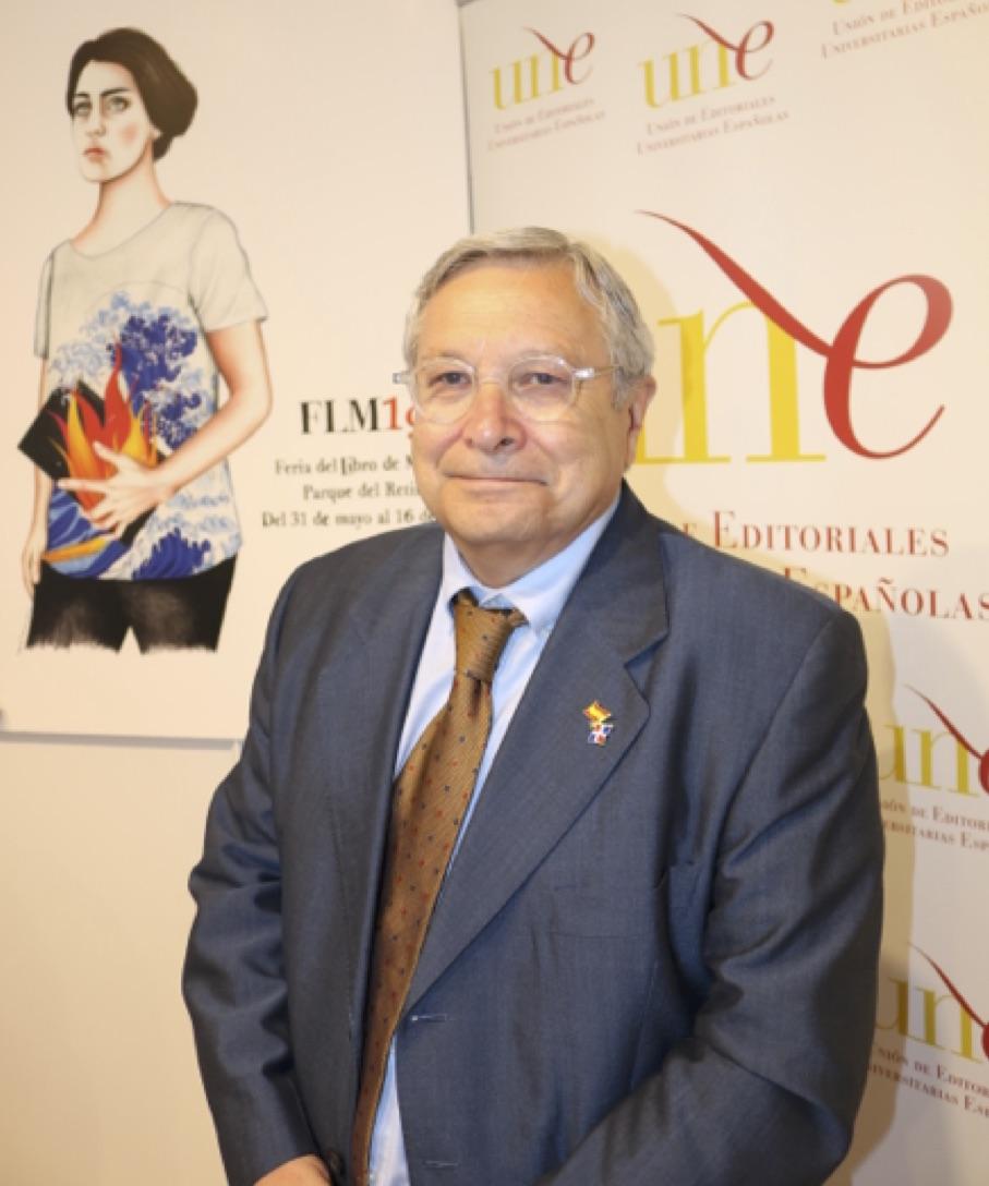 Manuel Gil, director de la Feria del Libro de Madrid, durante las IX Jornadas Digitales UNE-CSIC / Rosa de Bustos