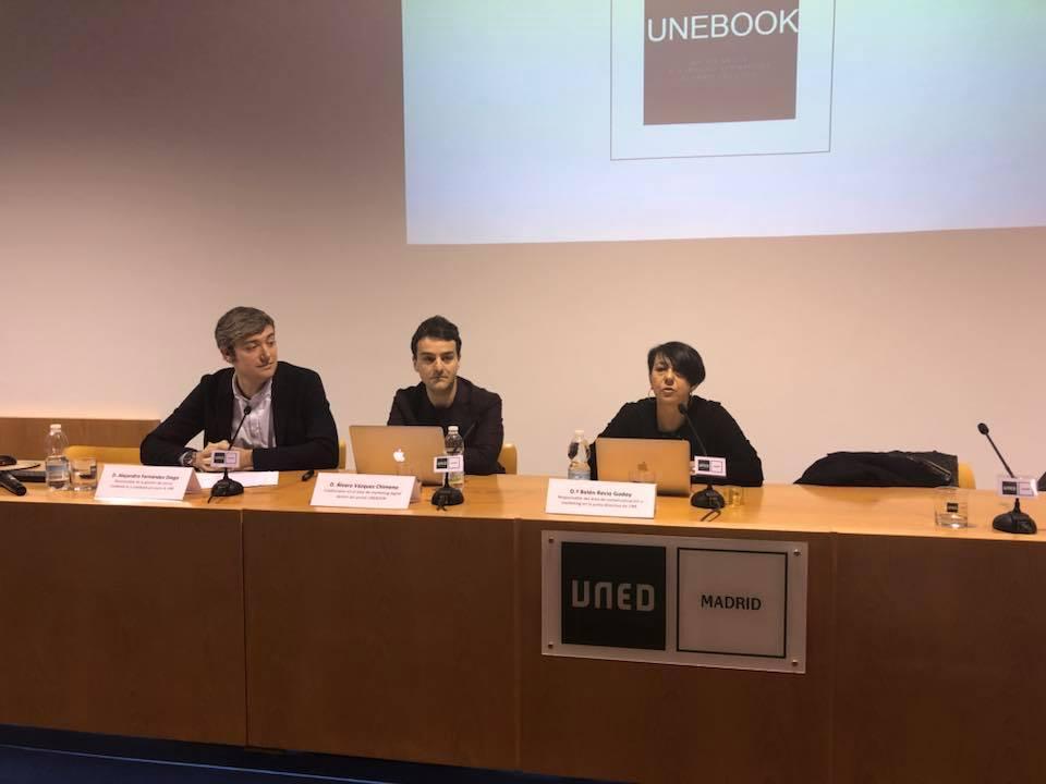 Presentación de los datos de Unebook