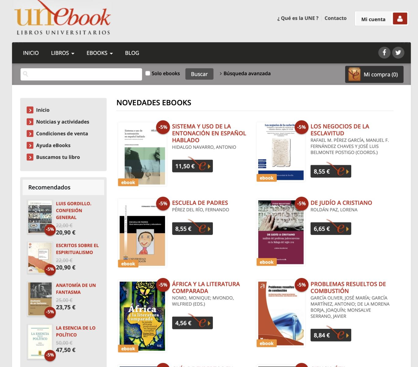 Ebooks de Unebook