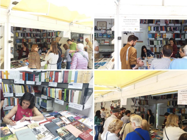 Imágenes de la caseta de la UNE en la Feria del Libro de Madrid 2018