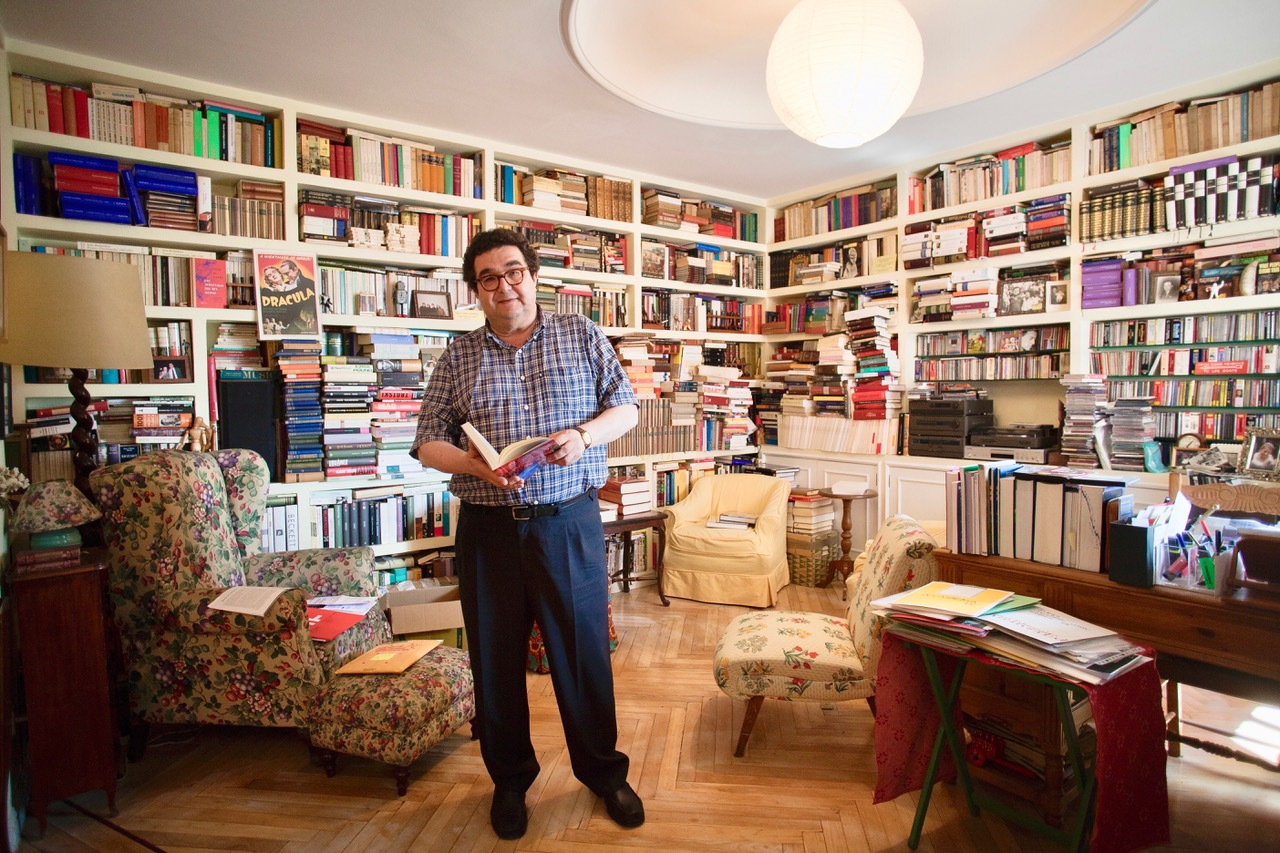 Foto: Manuel Rodríguez Rivero en una entrevista concedida a Unelibros / Fernando Moreno