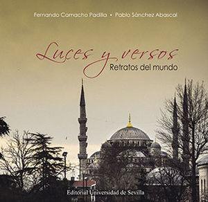 """Portada del libro """"Luces y versos. Retratos del mundo"""""""