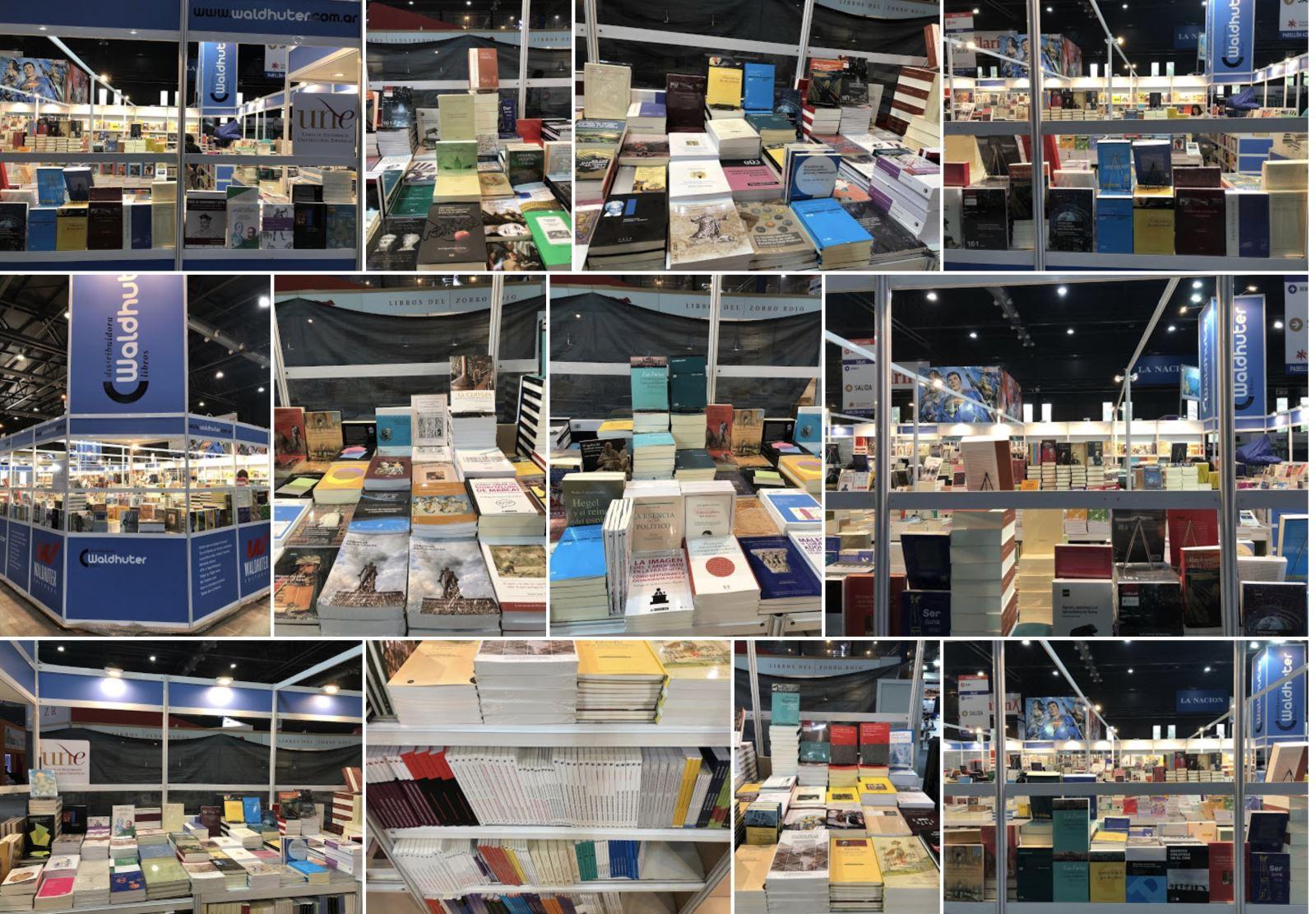 Imágenes del stand de la UNE en la Feria del Libro de Buenos Aires 2019 / Foto Waldhuter