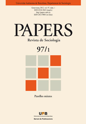 Papers. Revista de Sociologia. Parelles mixtes