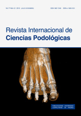 Revista Internacional de Ciencias Podológicas Vol. 7 Núm. 2 (2013)